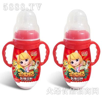 猪猪侠恐龙日记乳味饮料草莓味200ml