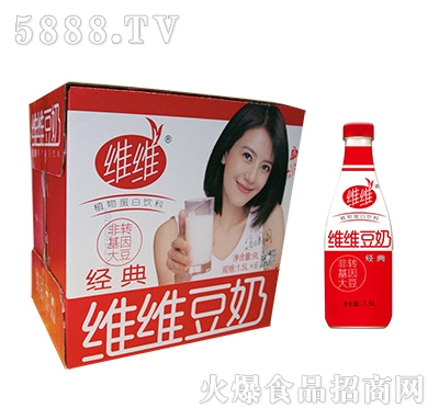 维维PET大红瓶豆奶1.5Lx6瓶