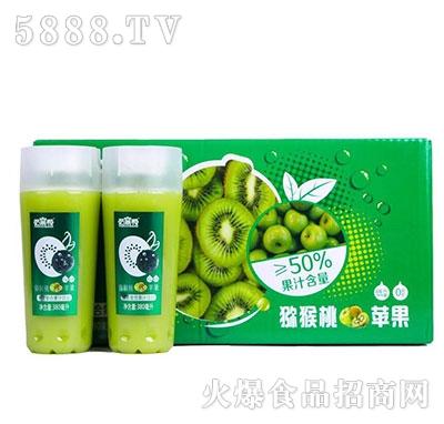 哈菓帮猕猴桃苹果果昔果汁380mlx15