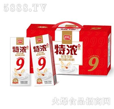 盼盼特浓花生牛奶250mlx12盒