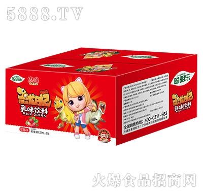 猪猪侠恐龙日记乳味饮料草莓味200mlx20瓶