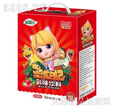猪猪侠恐龙日记乳味饮料草莓味200mlx10瓶