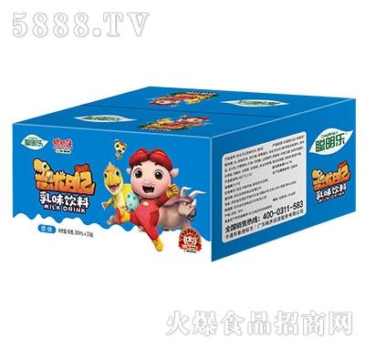 猪猪侠恐龙日记乳味饮料原味200mlx20瓶