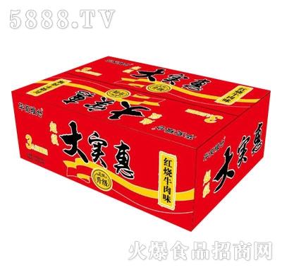 华夏粮仓大实惠秘制红烧牛肉面(箱)产品图