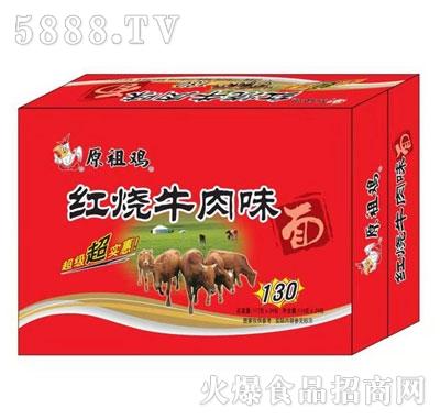 原祖鸡红烧牛肉味面117gX24产品图