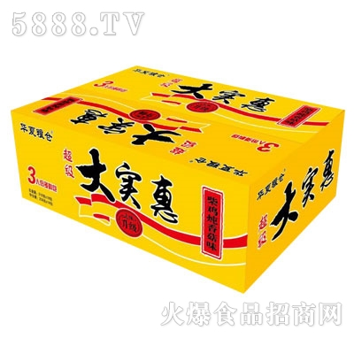 华夏粮仓大实惠柴鸡炖香菇面(箱装)1