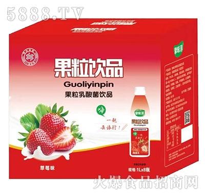 挚味醇草莓果粒乳酸菌1Lx8