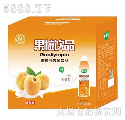 挚味醇黄桃果粒乳酸菌1Lx8