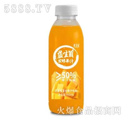 欢美家益生菌发酵芒果汁450ml