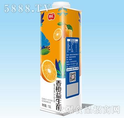 品汇香橙益生菌复合果汁1.5L