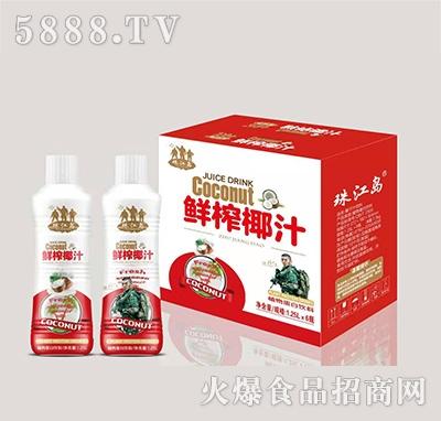 珠江岛鲜榨椰汁植物蛋白饮料1.25Lx6瓶
