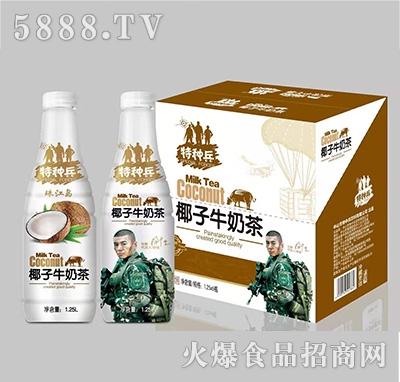 珠江岛特种兵椰子牛奶茶植物蛋白饮料1.25Lx6瓶