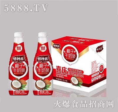 特种兵椰子牛奶茶植物蛋白饮料1.25Lx6瓶