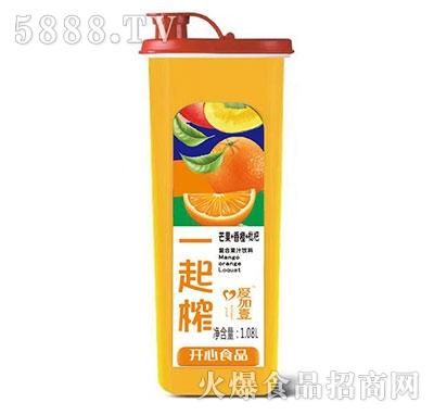 爱加壹一起榨芒果香橙枇杷果汁1.08L