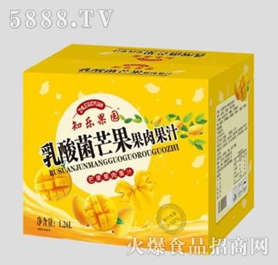 知乐果园乳酸菌芒果果肉果汁1.26L箱装