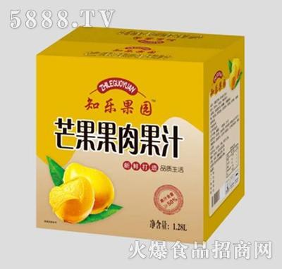 知乐果园芒果果肉果汁1.28L箱装