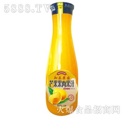 知乐果园芒果果肉果汁1.28L