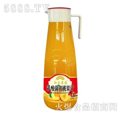 知乐果园乳酸菌黄桃果肉果汁1.5L
