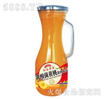 知乐果园乳酸菌黄桃果肉果汁