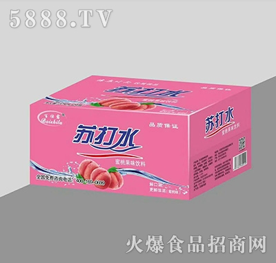 百仕露�o汽�K打水蜜桃果味�料375mlx24瓶