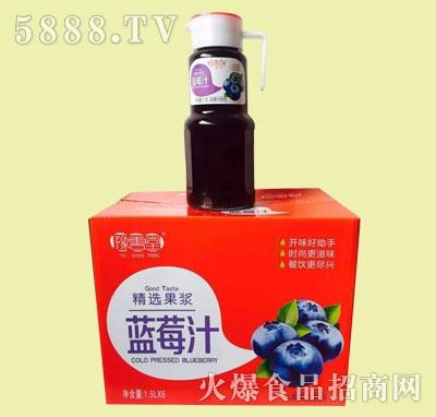 豫善堂蓝莓汁饮料1.5LX6瓶
