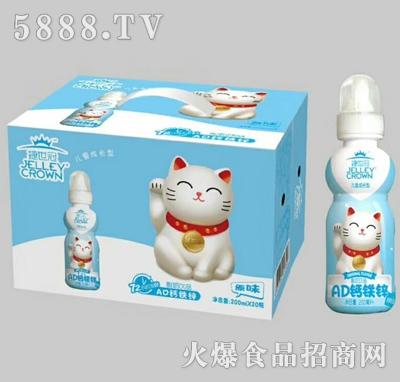 捷世冠AD钙铁锌酸奶饮品原味200mlx20瓶
