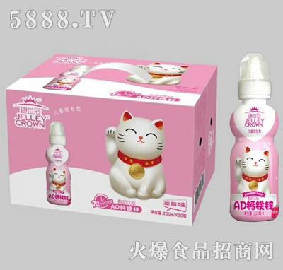 捷世冠AD钙铁锌酸奶饮品草莓味200mlx20瓶