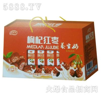 九里源枸杞红枣养生奶250mlx10盒