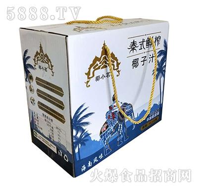 椰小茗泰式鲜榨椰子汁1Lx6盒手提绳装