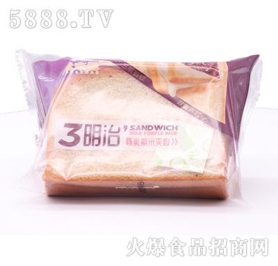 优乐曼炼乳紫米夹心三明治产品图
