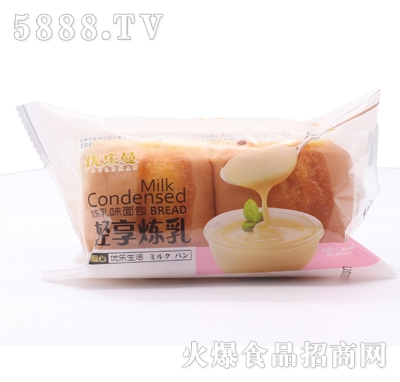 优乐曼轻享炼乳味面包产品图