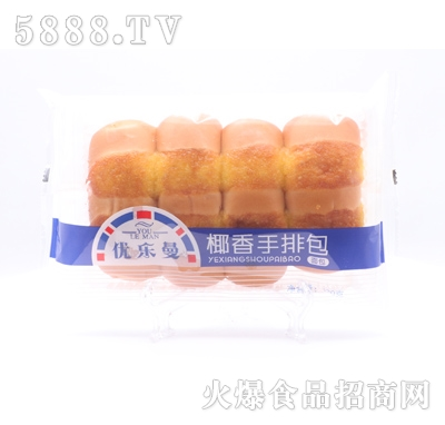 优乐曼椰香手排面包产品图