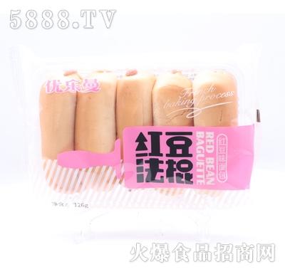 优乐曼红豆法棍面包126g产品图