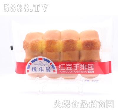 优乐曼红豆手排面包130g产品图