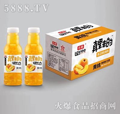 乐驿真果来的黄桃果肉果汁饮料450mlx15瓶产品图