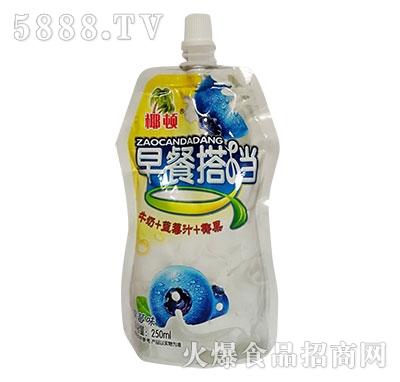 椰顿早餐搭档蓝莓味牛奶+果汁+椰果250ml