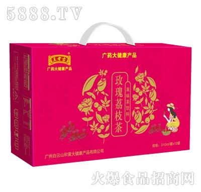 王老吉沁茗山玫瑰荔枝茶310mlx12瓶产品图