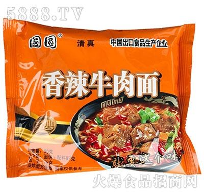 国圆香辣牛肉面90g