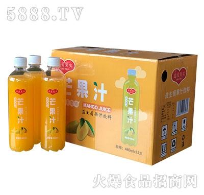 恋爱果实益生菌芒果汁饮料480mlx15瓶