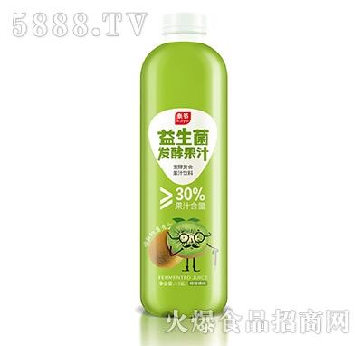 泰爷益生菌发酵果汁猕猴桃味1.18L