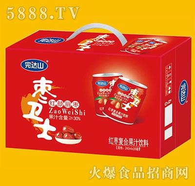 完达山枣卫士红枣复合果汁饮料240mlx20罐