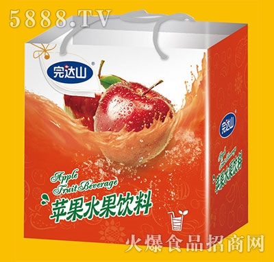 完达山苹果水果饮料手提袋