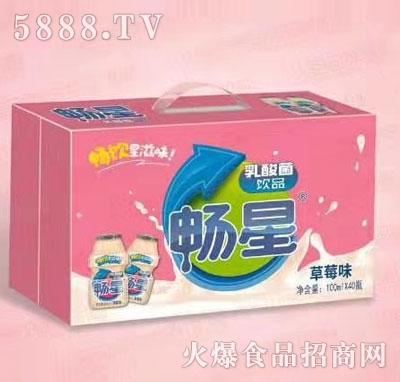 畅星乳酸菌饮品草莓味100mlX40