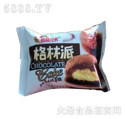 格?#20013;值?#26684;林派巧克力味蛋糕