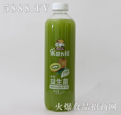 果园大叔益生菌复合果汁(猕猴桃)1.1L产品图