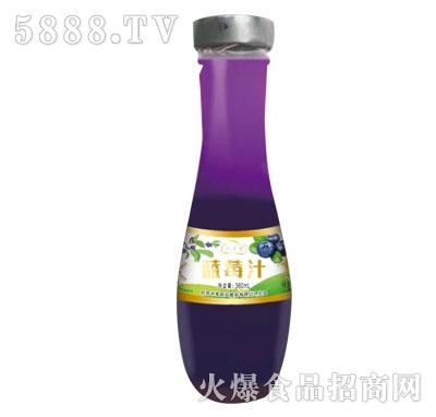 美时达蓝莓汁360ml