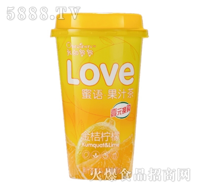 我的乖乖金桔柠檬果汁茶饮料480ml