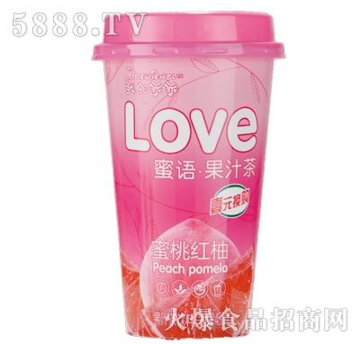 我的乖乖蜜桃红柚果汁茶饮料480ml
