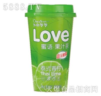 我的乖乖泰式青柠果汁茶饮料480ml