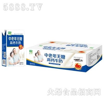 乐牛中老年无糖高钙牛奶箱装产品图